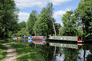 Beautiful moorings on the Kennet and Avon Canal